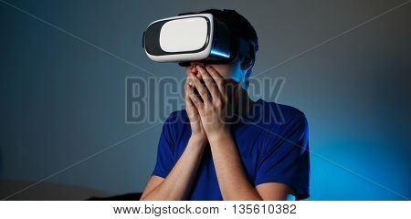 Man using VR glasses