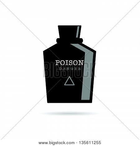 Poison Bottle Danger Illustration