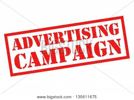 ADVERTISING CAMPAIGN red Rubber Stamp over a white background.