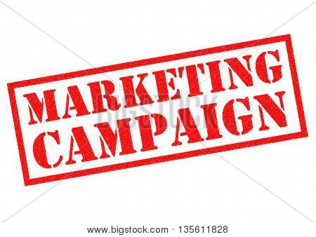 MARKETING CAMPAIGN red Rubber Stamp over a white background.