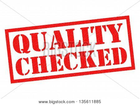 QUALITY CHECKED red Rubber Stamp over a white background.