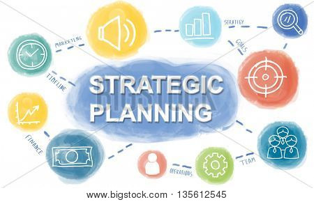 Graphic Business Plan Strategy Concept