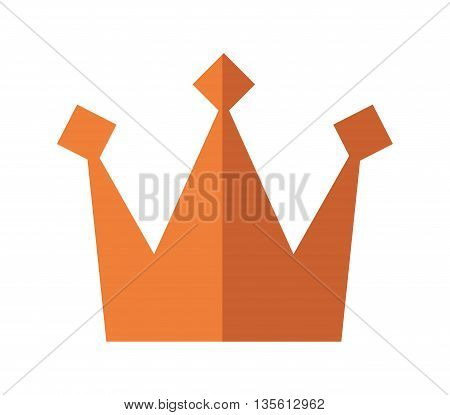 Royalty concept represented by crown icon over isolated and flat background