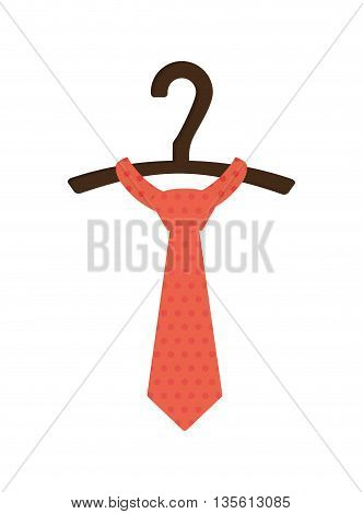 Male cloth concept represented by necktie icon over isolated and flat background