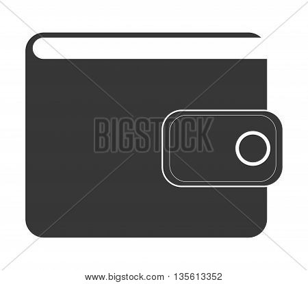 money concept represented by wallet icon over isolated and flat background