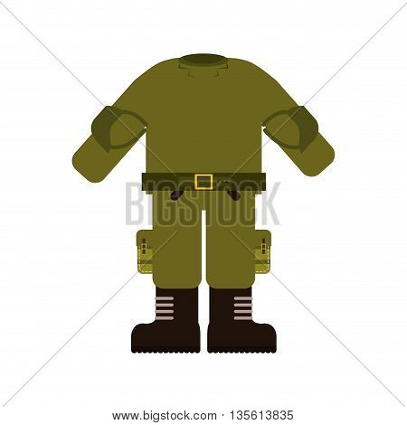 Armed forces concept represented by uniform icon over isolated and flat background