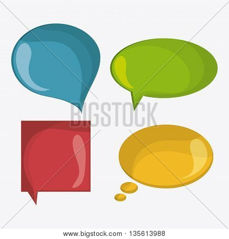 Bubble concept with icon design, vector illustration 10 eps graphic.