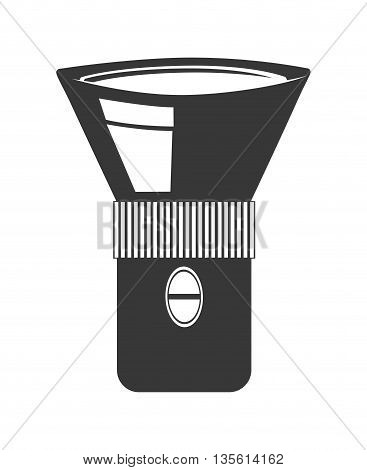 Armed forces concept represented by lamp equipment icon over isolated and flat background