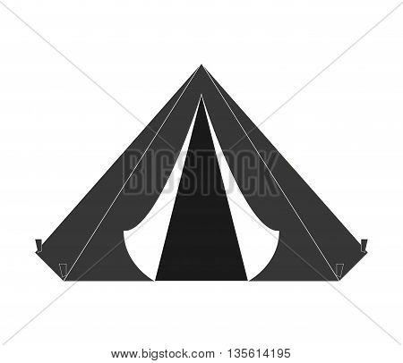Armed forces concept represented by tent icon over isolated and flat background