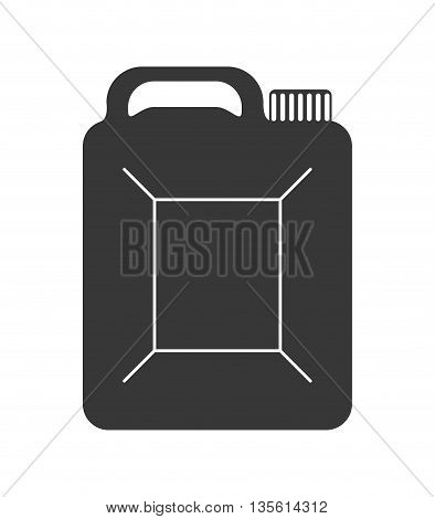 Gasoline station concept represented by barrel icon over isolated and flat background