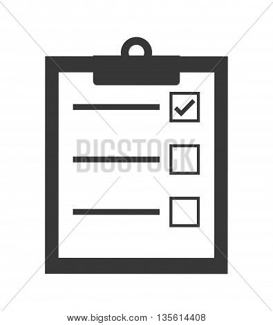 Planner concept represented by check list icon over isolated and flat background