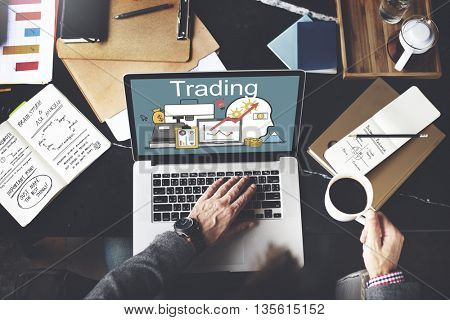 Trading Accounting Finance Auditing Money Banking Concept