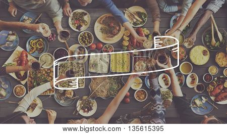 Teamwork Hanging out Party Restaurant Concept