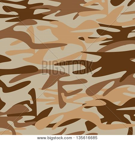 Military Camouflage Background. Brown and dark brown military Camouflage.
