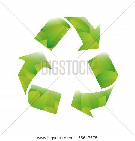 Think green concept represented by eco icon over isolated and flat background