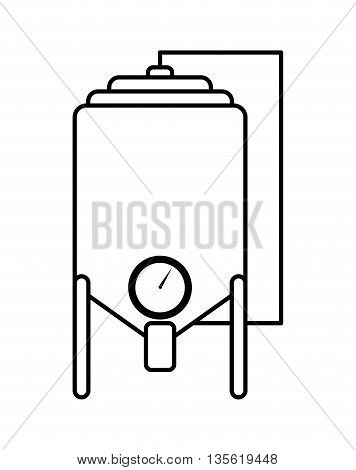 Industry and plant represented by metal machine  over isolated and flat background