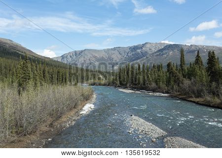The Sanctuary River in Denali National Park