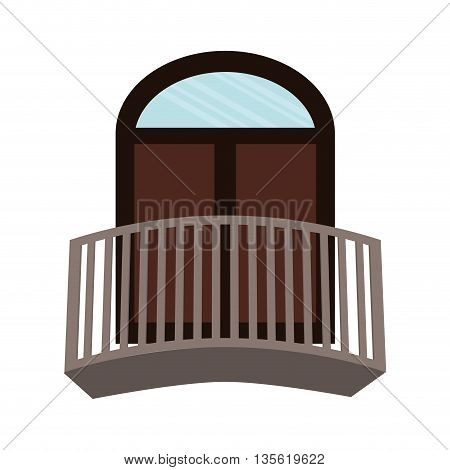 Architecture  represented by window over isolated and flat background