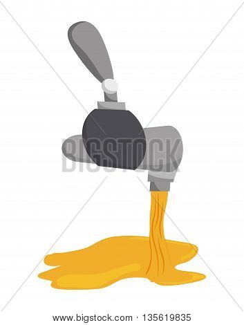 beer beverage concept represented by tap icon over isolated and flat background