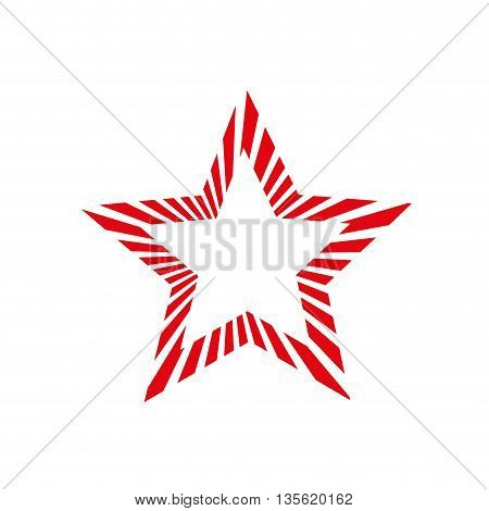 element of decoration represented by star over isolated and flat background