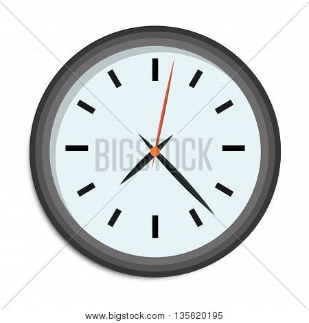 Time concept represented by traditional clock icon over isolated and flat background