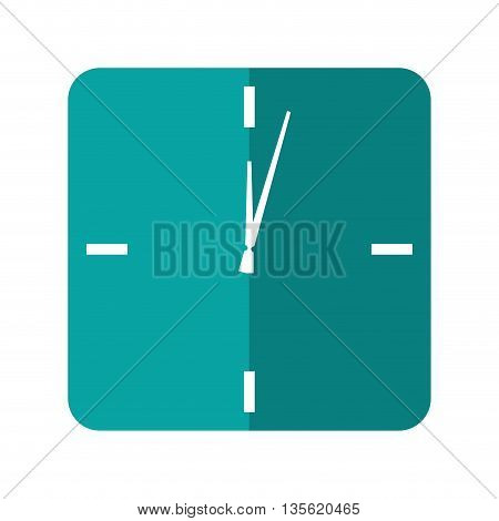 Time concept represented by frame clock icon over isolated and flat background