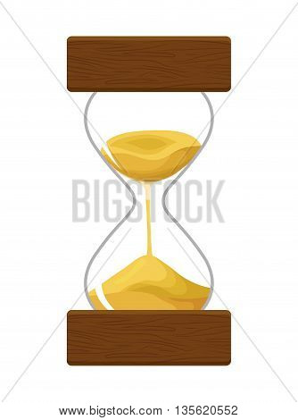 Time concept represented by hourglass icon over isolated and flat background
