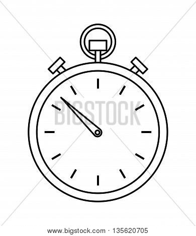 Time concept represented by chronometer icon over isolated and flat background