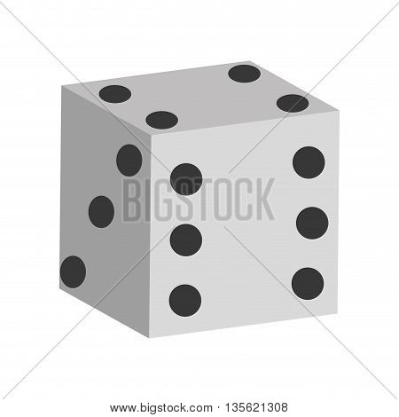 Casino and las vegas concept represented by Dice icon over flat and isolated background