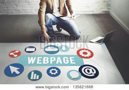 Webpage Internet Social Media Networking Web Concept