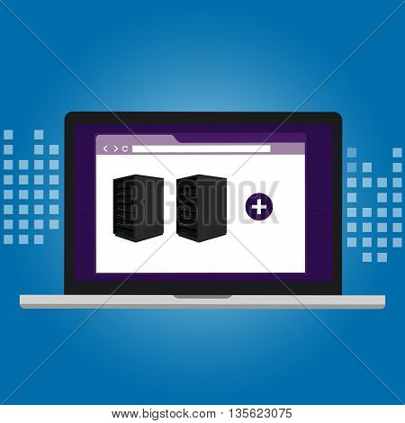 server virtualization software IT infrastructure management vector