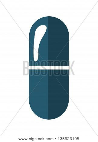 Medical cand Heatlh care concept represented by pill icon over flat and isolated background