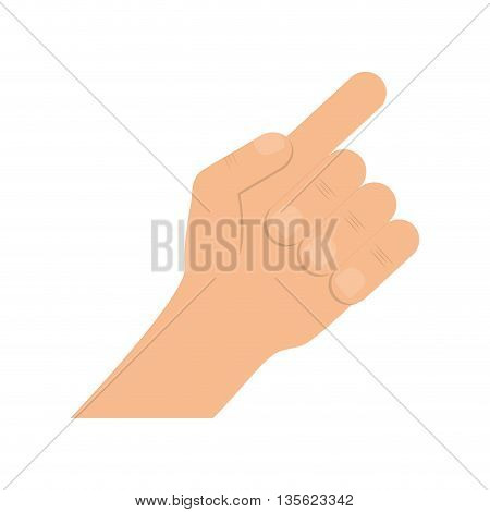 Hand concept represented by fingers  over flat and isolated background