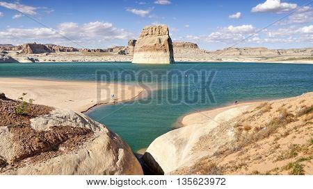 Lake Powell, near Page city. Utah - Arizona, USA