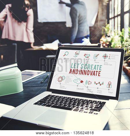 Creative Innovate Development Ideas Progress Concept