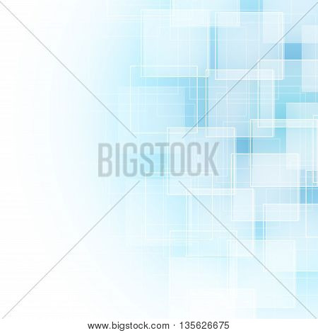 abstract background with transparent lines and squares