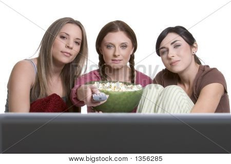 Girls Watching Television