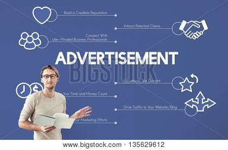 Advertisement Marketing Graphics Lecture Concept