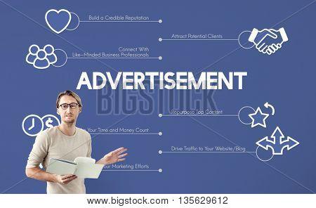 Advertisement Marketing Graphics Lecture Concept
