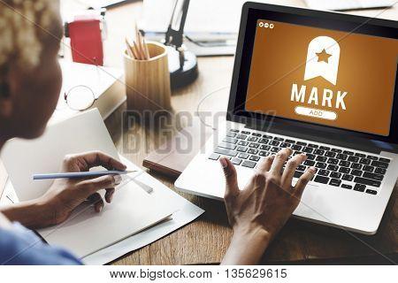 Mark Bookmark Content Web Online Management Concept