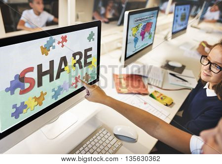 Share Exchange Feedback Social Communication Concept