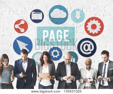 Page Documents Technology Digital Webpage Concept