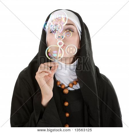 Nun Having Fun