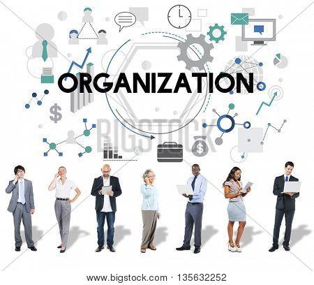Organization Business Corporate Management Concept