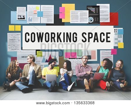 Coworking Space Community Business Start-up Concept