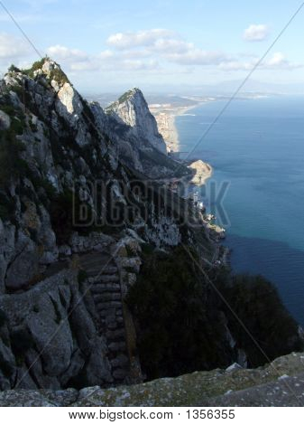 Looking Along The Rock Of Gibratar