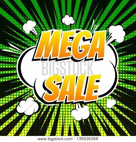 Mega sale comic book bubble text retro style