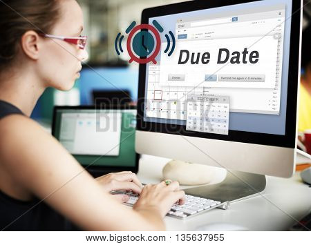 Due Date Agenda Appointment Calendar Day Concept