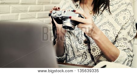 Beautiful Pretty Photographer Image Inspiration Concept