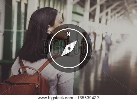 Location Destination Navigation Pointer Concept